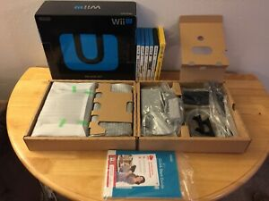 Nintendo Wii U 32GB Black Console Deluxe Set with Game Lot Complete  - WUPSKAFB