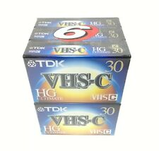 Tdk Vhs-C Hg Ultimate 30 Minutes Camcorder Videotape 6 Pack New Free Shipping!