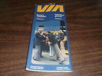 APRIL 1977 VIA RAIL CANADA SYSTEM PUBLIC TIMETABLE