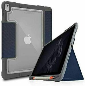 """Apple iPad Case 10.2"""" 7th 8th Gen Rugged Protective Case with Pen Holder Blue ST"""