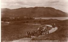 Four in hand Coach road to Inversnaid Loch Lomond  unused RP pc J B White