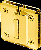 CRL Gold Plated Petite 182 Series 180 Degree Glass-to-Glass Hinge Swings In Only
