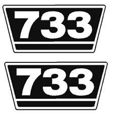IHC Traktor Aufkleber 2xTypenaufkleber 733 Logo Emblem Sticker Label ca.21x9,5cm