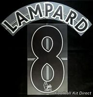 Chelsea Lampard 8 Premier League Football Shirt Name Set Lextra Away 2007/13
