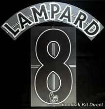Chelsea Lampard 8 Premier League Football Shirt Name Set Lextra Away 2007/13