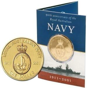 2001 $1 NAVY UNCIRCULATED COIN in ORIGINAL FOLDER.