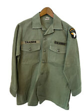 Vietnam US Army Sateen OG-107 Pattern Utility Shirt Size 15 1/2 x 31 - Preowned