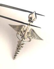 Caduceus Symbol of Medicine Pendant For Doctors & Nurses Celine .925 Sterling