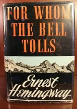 1940 Ernest Hemingway For Whom the Bell Tolls First Edition First Printing DJ