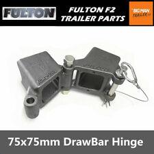 "Fulton Drawbar Hinge Fold Away Draw Bracket 3x3"" Plated Weld on Style HDPW330300"