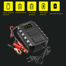 Intelligent 12V 10A Automobile Lead Acid Battery Charger Car Motorcycle US/EU