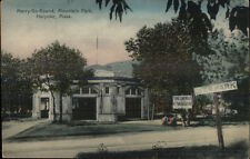 Holyoke MA Merry-Go-Round at Mountain Park c1910 Postcard