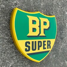BP SUPER LOGO LED LIGHT BOX WALL SIGN GARAGE OIL GAS STATION PETROL GASOLINE