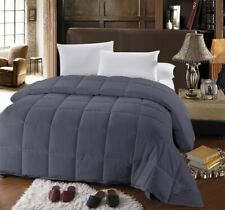 King Size Down Alternative Comforter with Gray Sheet Set Fitted + Flat + 2 Cases