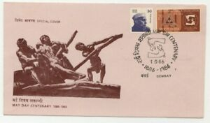 India 1986 SPECIAL COVER May Day Centenary.