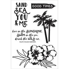 Island Escape Collection Clear Unmounted Rubber Stamp Set Kaisercraft CS281 New
