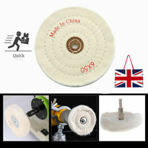 150MM 6 Inch Spiral Stitched Cotton Buffing Polishing Wheel Mop Bench Grinder x1