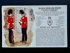 History & Tradition ROYAL INNISKILLING FUSILIERS Postcard by Gale & Polden No.62
