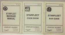 Vintage Star Trek Starfleet Academy Training Manual Booklet Set of 3- Marriage+