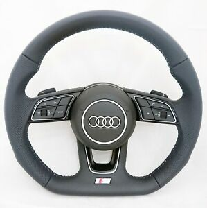 NEW OEM AUDI S A1 A3 S3 HALF PERFORATED TIPTRONIC COMPLETE STEERING WHEEL