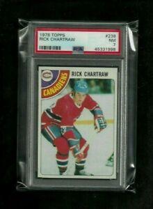 Rick Chartraw 1978 Topps #238 PSA 7 NEAR MINT! Canadiens Kings Rangers Oilers