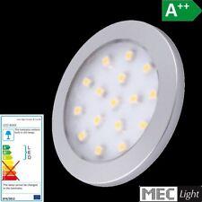 LED CONSTRUCCIÓN Muebles Luz encimera ORBIT en plata blanco cálido 3000k 12V/