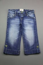 Womens Redial Jeans Capri Cropped Shorts Cuffed Size M (Measurements 30x16)