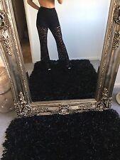 ZARA Woman lace TORCE Pantaloni Navy coprire Spiaggia FAVOLOSO EUR S UK 8/10