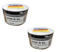 100 Ritek GO5 Traxdata Blank DVD-R Discs Inkjet Printable 4.7GB 8X Speed 2x50 PK