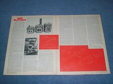 "1973 Vintage Tech Info Article on Magnuson Roots Super Chargers ""Mini Blowers"""