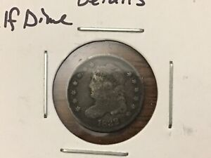 1832 Capped Bust Half Dime- VG/Fine Details wow great coin
