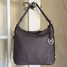 Michael Kors Bedford Belted Large Shoulder Bag Cinder Pebble Leather