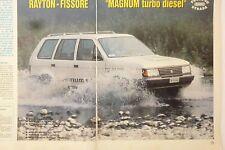 *ARTICOLO PROVE RAYTON FISSORE MAGNUM TURBO DIESEL   -- 1987