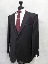 Men's Slim Fit Jasper Conran Black Pinstripe Suit 44R W38 L31 MV8007