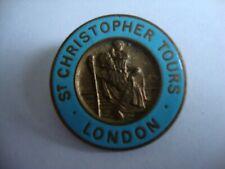 Vintage St Christopher Tours London - Enamel Pin Badge. FREE UK P&P