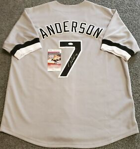 CHICAGO WHITE SOX TIM ANDERSON AUTOGRAPHED SIGNED JERSEY JSA COA
