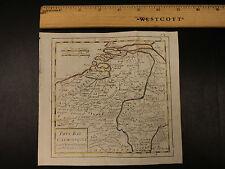 1784 Color MAP of BELGIUM & Netherlands Pays Bas Dunkirk France Vaugondy