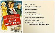 FILM NOIR X04: ALIAS NICK BEAL (1949) John Farrow, Ray Milland, Totter, Mitchell