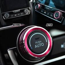 2x Aluminum Ring Knob Trim Cover For 2016-2018 Honda Civic Sedan Coupe Hatchback