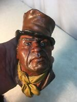 Bosson ware (LIKE) Painted  Head Chalkware Wall hanging Dr Jeckel