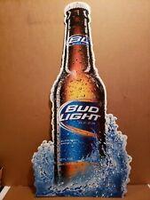 "Vintage Bud Light Beer Metal Tin Sign Budweiser Rare 2009 35"" x 19"""