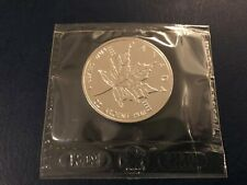 1997 1 oz Silver Canada/Canadian Maple Leaf $5 coin in original sealed pouch