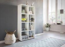 Bücherregal Regal Raumteiler NAOLO 70x29x142 cm Weiß 8 Fächer