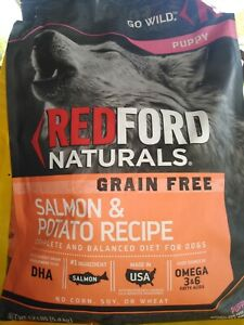 Redford Naturals Puppy  grain free limited ingred Salmon and sweet potato 12 lb