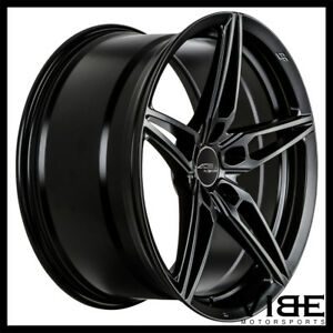 """20"""" ACE AFF01 FLOW FORM BLACK CONCAVE WHEELS RIMS FITS FORD MUSTANG GT"""