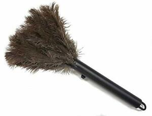 Retractable Ostrich Feather Duster W/ Metal Coil Wire Binding ALTA