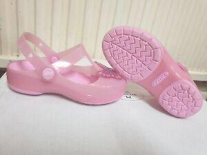 crocs girls pink sandals size uk 12 / eu 31