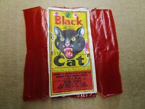 Vintage Black Cat Label Firecracker Label     MADE IN MACAU