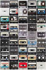 Superba Retrò Cassette a nastro in tela #395 qualità Incorniciato Wall Art A1