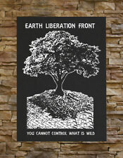 Earth Liberation Front BACK Patch - First ELF Animal Rights Human Environmental
